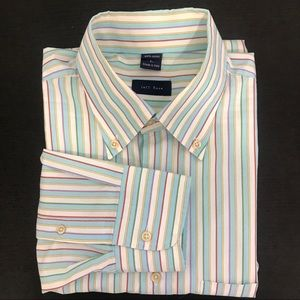 JEFF ROSE  Men's long sleeve shirt stripes size L